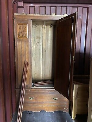 Edwardian inlayed mahogany wardrobe