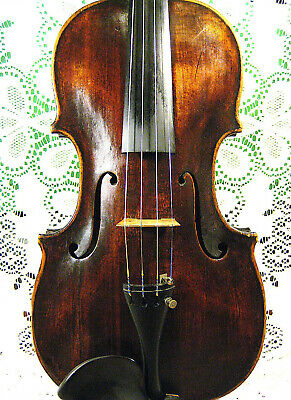 Gorgeous Old c1800 Antique Violin Grafted Neck Branded Twice! Hopf Ready to Play