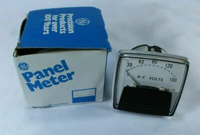 Vintage General Electric GE Panel Meter - AC Volts 0-150 Type AW-91