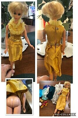 VINTAGE ORIGINAL 1962 MIDGE BARBIE DOLL,Clothes- 1958 MATTEL PATENTED  BLONDE
