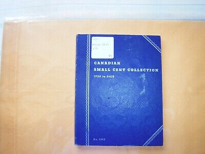 Canada Canadian Small 1c (One) Cent Coins Partial Album 1920-1972