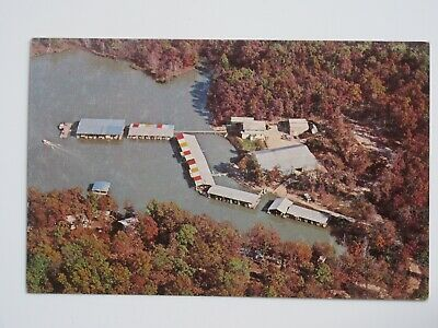 Russell's Marina at Lake of the Ozarks MISSOURI Vintage Chrome Postcard