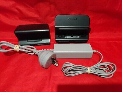 Genuine NINTENDO Wii U GAME PAD POWER SUPPLY AC ADAPTER CHARGER CABLE + STANDS