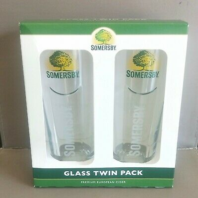 Somersby cider 400ml glasses brand new never used