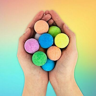 Rainbow Colour Scented Multi Bath Bombs Set of 10 Children Adult Fragrant Gifts
