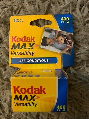 Kodak Max versatility 400 Speed 12 exp. 35mm Film New Free