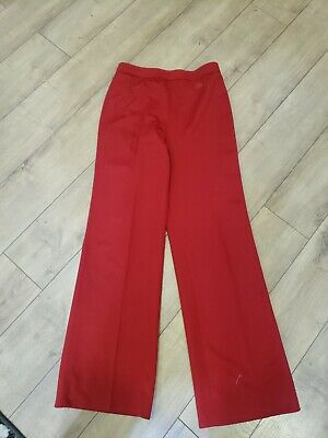 70s Vintage GIVENCHY SPORT Womens Casual Pants Red Size L?