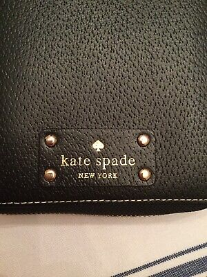 Kate Spade Wellesley Texture Leather Zip Around Planner Personal Organizer