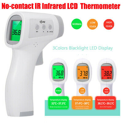 No-contact Touch IR Infrared Digital LCD Thermometer Head Forehead Baby Adult UK