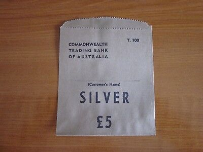 Commonwealth Trading Bank , Paper coin bag. Pre-Decimal. Unused.