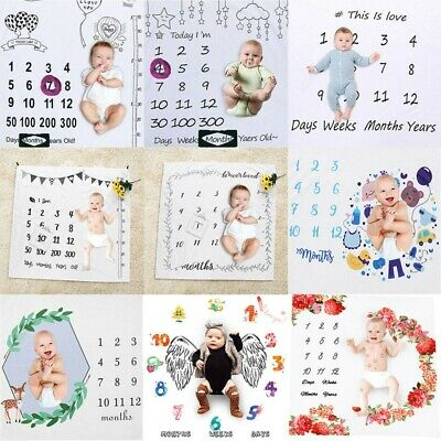 Monthly Growth Milestone Blanket Photography Cloth Prop Background Baby Newborn