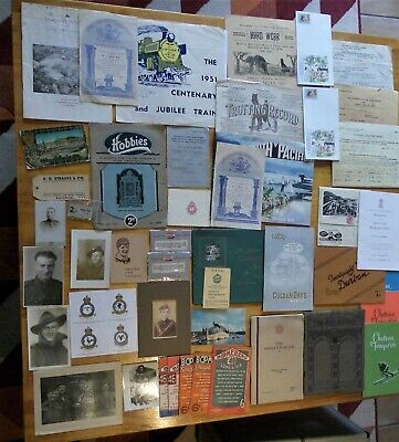 Collection (mixed lot) of ephemera. Photos, documents, booklets. Various eras.