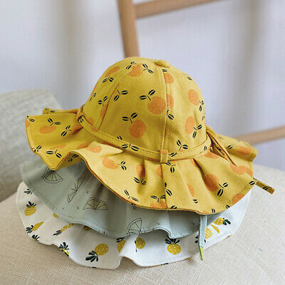 Summer Baby Girl Bucket Hat Print Outdoor Bowknot Kids Sun Hat Panama Beach Cap