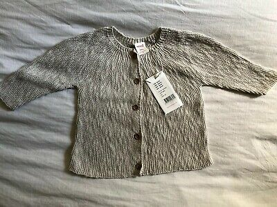 Brand New Seed Baby Girl Grey Cardigan Size 00 3-6 Months