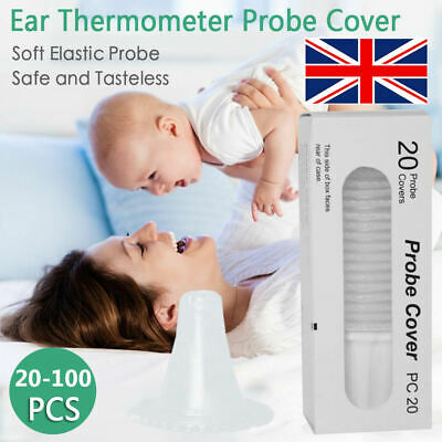 For Braun Probe Covers Thermoscan Replacement Lens Ear Thermometer Filter Cap UK