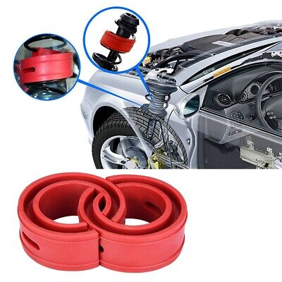 uxcell 2Pcs Type-D Rubber Car Shock Absorber Spring Bumper Buffer Power Cushion Coil Damper
