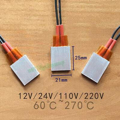 PTC Heater Plate 12V-220V Constant Temperature Element Thermostat Heating Tablet
