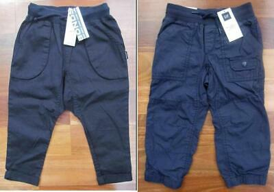 RRP $74.90 Two Brand New Pairs of Boys Size 3 Pants: BONDS & GAP (Black & Navy)