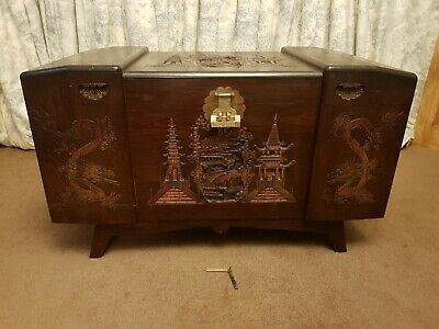 Chinese Camphor Wood Chest Used