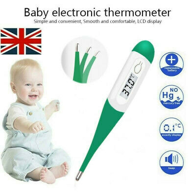 Digital LCD Medical Thermometer Mouth Underarm Baby Body Temperature Aid UK NEW