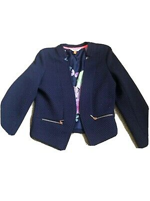 ted baker girls jacket Age 6-7 Yrs, Navy Blue