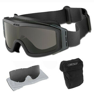 US Military ESS Tactical Goggles With Stealth Sleeve Model EP01BK1-TSR NIB