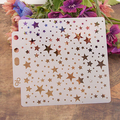 Reusable stars Stencil Airbrush Art DIY Home Decor Scrapbooking Album Craft ATJO