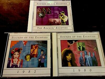 SOUNDS OF THE EIGHTIES, 80's GREATEST HITS. 3 CD SET, 54 SONGS! TIMELIFE.