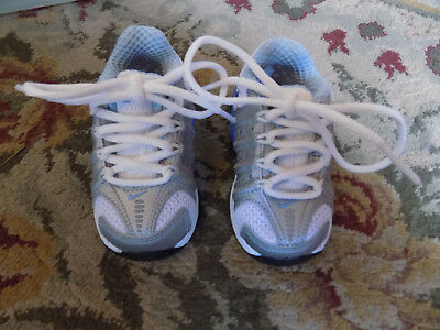 Nike Air Lace Up Sneakers Light Blue White Baby Boys Girls Sz 3 Baby Toddler EUC