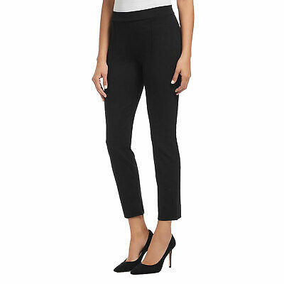 Three Dots New Ponte Pintuck Ankle Pants Black Small