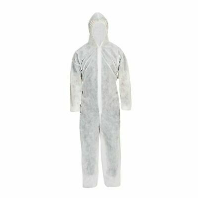 Disposable Coveralls Overalls Safety Boilersuit Hood Painters Protective Suit