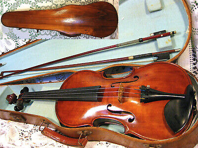 Stunning Fine Old Antique Violin 1930 #70 By Jerome Carter in Case w/Bows NR!!