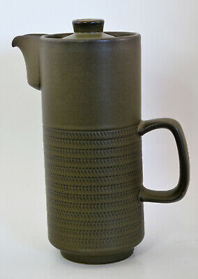 Denby Chevron 9 inch Coffee Pot Made in England