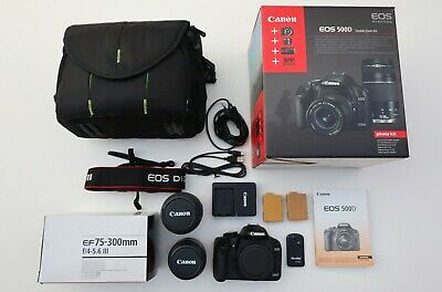 CANON EOS 500D SLR camera + EF-S 18-55mm f/3,5-5,6 II + EF 75-300mm f/4-5,6 III