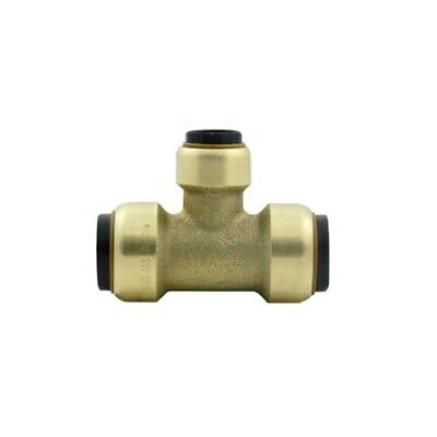 Elkhart Tectite Sharkbite Style 3/4 x 3/4 × 1/2 in. Tee, Brass Push-to-Connect