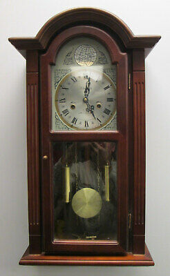 "Vintage Waltham Tempus Fugit 31-Day Chiming Wall Clock 28"" Tall"