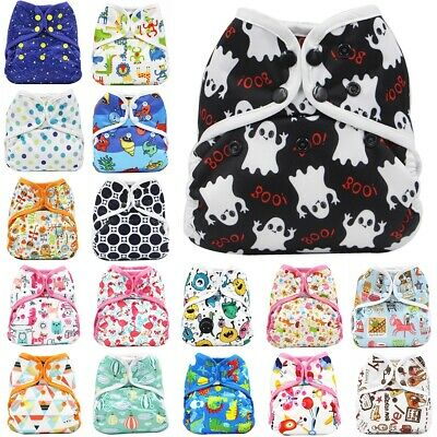 Reusable baby diaper Cover breathable waterproof diapers washable adjustable