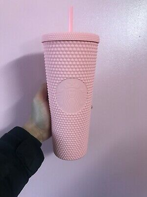 Starbucks Spring Collection 2020 Matte Pink Studded Tumbler 24oz FAST SHIPPING!
