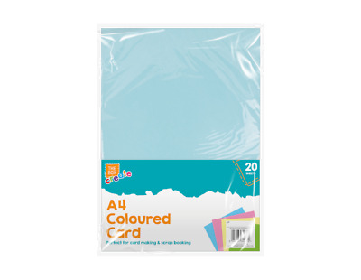 A4 Coloured Card - 20 Sheets in the Pack