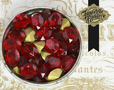 4 VINTAGE West German hand made cabochons 20mm Cherry Siam Red clear #9 ii