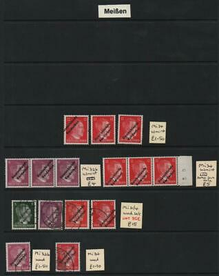 GERMANY: Local Post Examples - Ex-Dealers Stock - 3 Part Album Pages (30961)