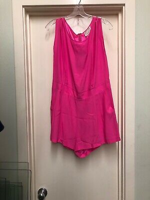 Sail To Sable Hot Pink Charm Romper Size L So Cute For Summer NWT