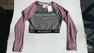 McKenzie Girls Age 10 - 12 Cropped Sports Top