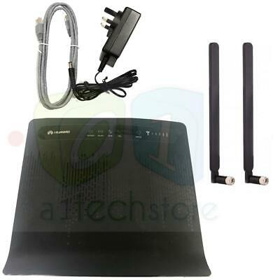 used HUAWEI B593 CPE S22 FACTORY UNLOCKED 4G LTE Router + 2 x EXTERNAL ANTENNAS