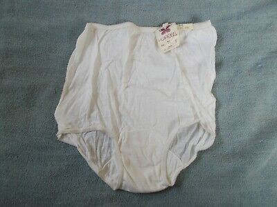 Vintage Belk Heiress White Brief Panties 100% Combed Cotton Knit size 6 NWT