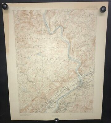 Antique 1893 USGS Topograhical Map PITTSTON PENNSYLVANIA Sheet