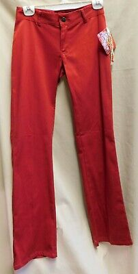 """Dickies Girl 882G Red Pants 27"""" x 33"""" Size 0 Made In The USA"""