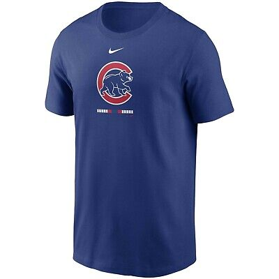 Brand New Men's MLB 2020 Nike Chicago Cubs Legacy T-Shirt Authentic Collection