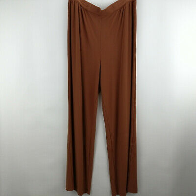 Linea by Louis Dell'Olio Moss Crepe Pants Cinnamon L A273877