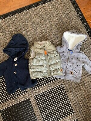 Baby Boy Jumpers And Vest - Size 000